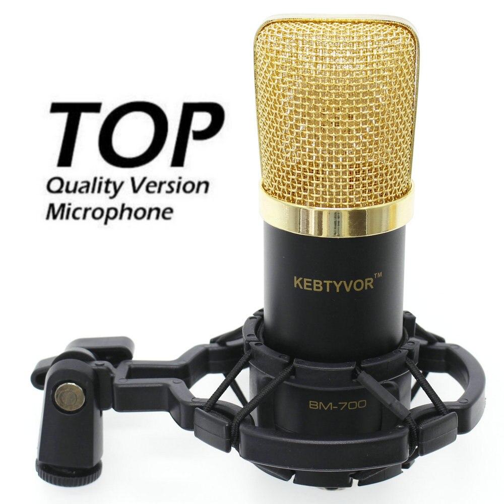 KEBTYVOR BM 700 A Condensatore Professionale mikrofon Con 3.5mm Martinetti XLR Cavo Metal Shock Mount Della Copertura Della Gomma Piuma com fio Microfono
