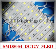 LED module super bright SMD5054 LED lighting module light back light for sign 5054 DC12V 3*0.4W 1.2W 150lm IP66 75mm*12mm 3 led(China)