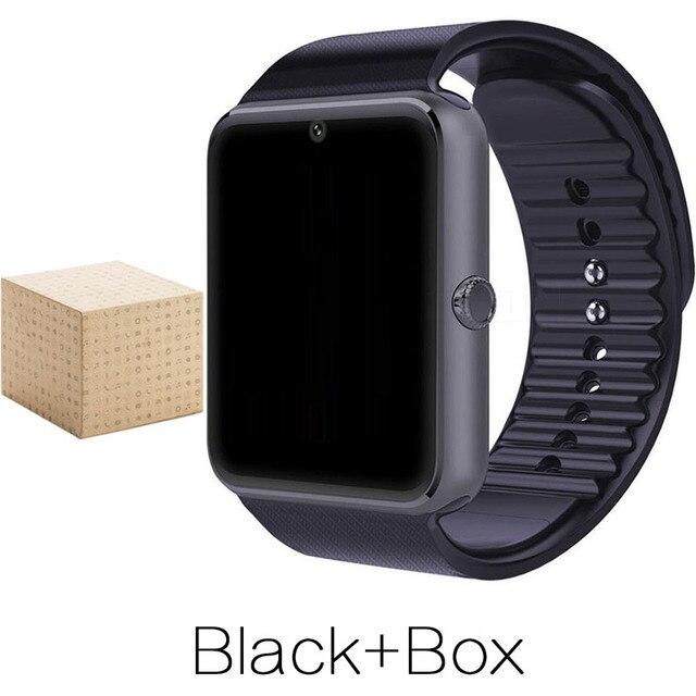 Android Smart Watch GT08 Часы Носимых Устройств С Слот Sim-карты Push Подключение Bluetooth Телефон Лучше, Чем DZ09 A1