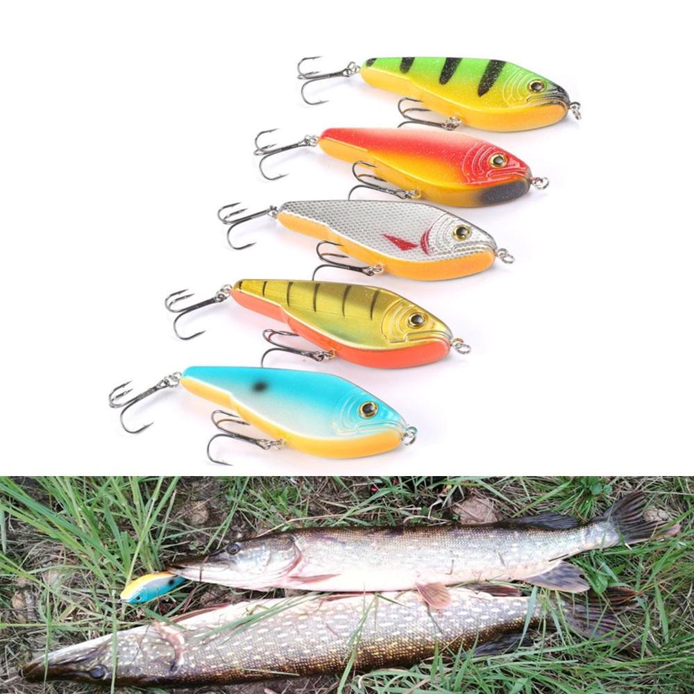 Fishing Lure Pike Jerkbait Musky Buster Jerk Big VIB Baits Mustad Hooks Slow Sinking Big Bass 120mm 50g Trebles Hooks 1/0 3D Eye