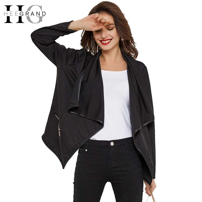 HEE GRAND 2018 Women Casual Blazer Black Elegant Lady Blazers Autumn Winter Basic Jacket Coats Turn-down Collar Top M-2XL WWJ786