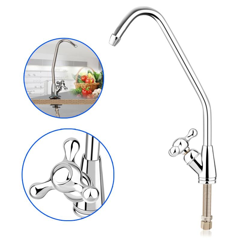 Kitchen Reverse Osmosis Water Filter Sink Faucet Tap Brushed Nickel Spray Tap Mixer Swivel Faucet Trigeminal Taps Water Purifier