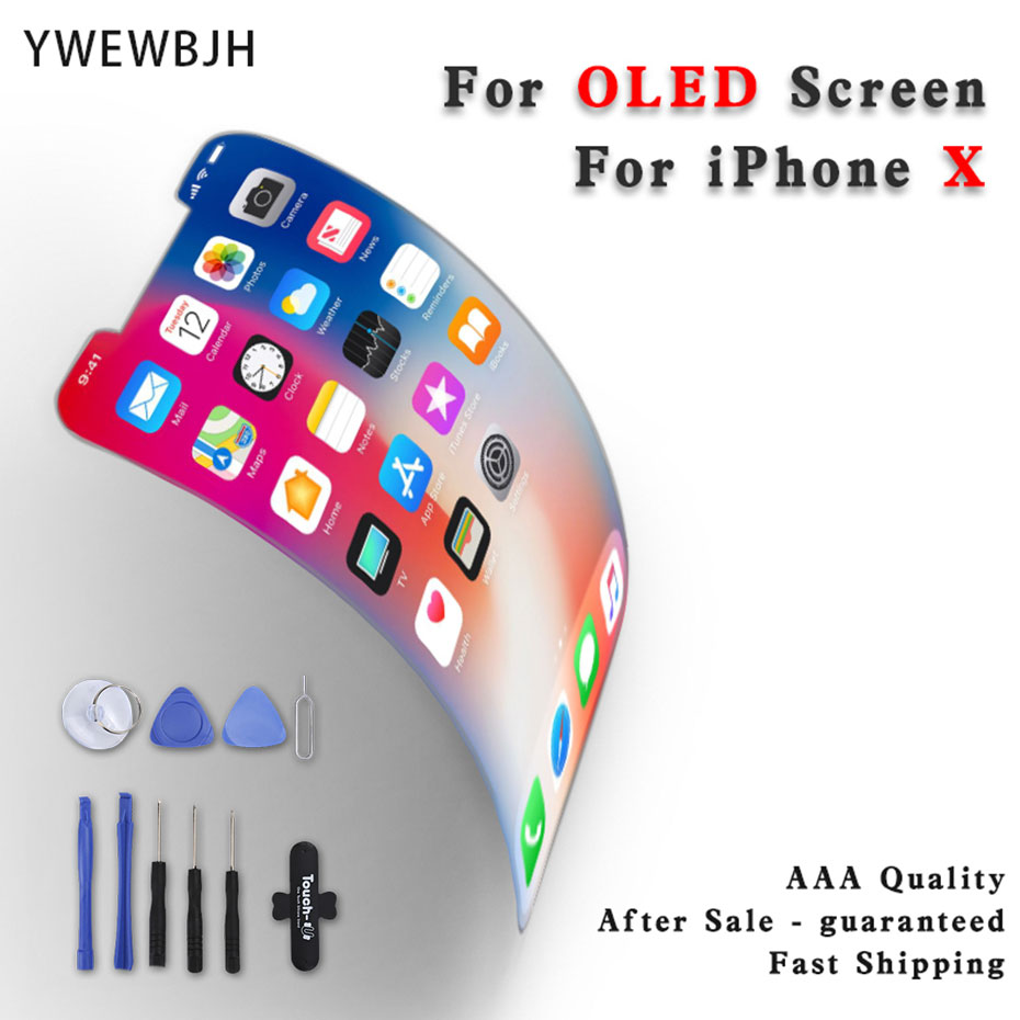 Grade For iPhone X LCD Display OLED Pantalla Digitizer Assembly Touch Screen Replacement Parts Black