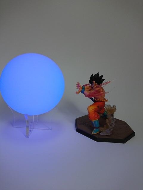 Dragon Ball Z DBZ Filho Gouku Vegeto DragonBallZ KUMALAZY Alterar Cor kaiouken Arylic Luz Noturna Brinquedo Modelo