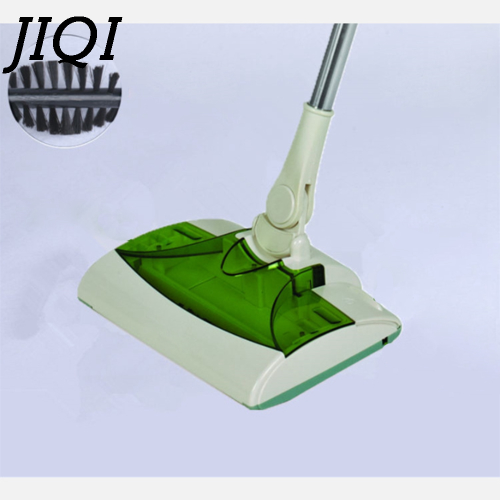 JIQI Wireless Rechargeable Electric Robot Cleaner Hand Held Cordless Drag Mopping Sweeper Drag Sweeping Broom Mop Dust Collector portable dc solar panel charging generator power supply board charger radio mp3 flashlight mobile led lighting system outdoor