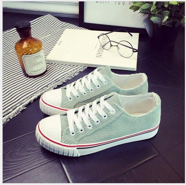 Весна Лето классический Чистый и свежий шутник вельвет низкой холст обувь высокого качества досуг плоские одиночные обувь для студентов