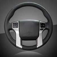For Toyota Land Cruiser Prado FJ150 2010 2011 2012 2013 2014 2015 2016 Steering Wheel Decorative Sequins Car Styling Accessories