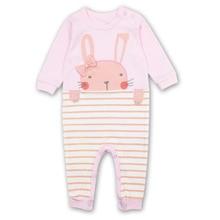 Купить с кэшбэком Spring Newborn Baby Girl Rompers Suit Boy Clothes Long Sleeves Comfortable Baby Pajamas Kawaii Animal rabbi model Kid Jumpsuit