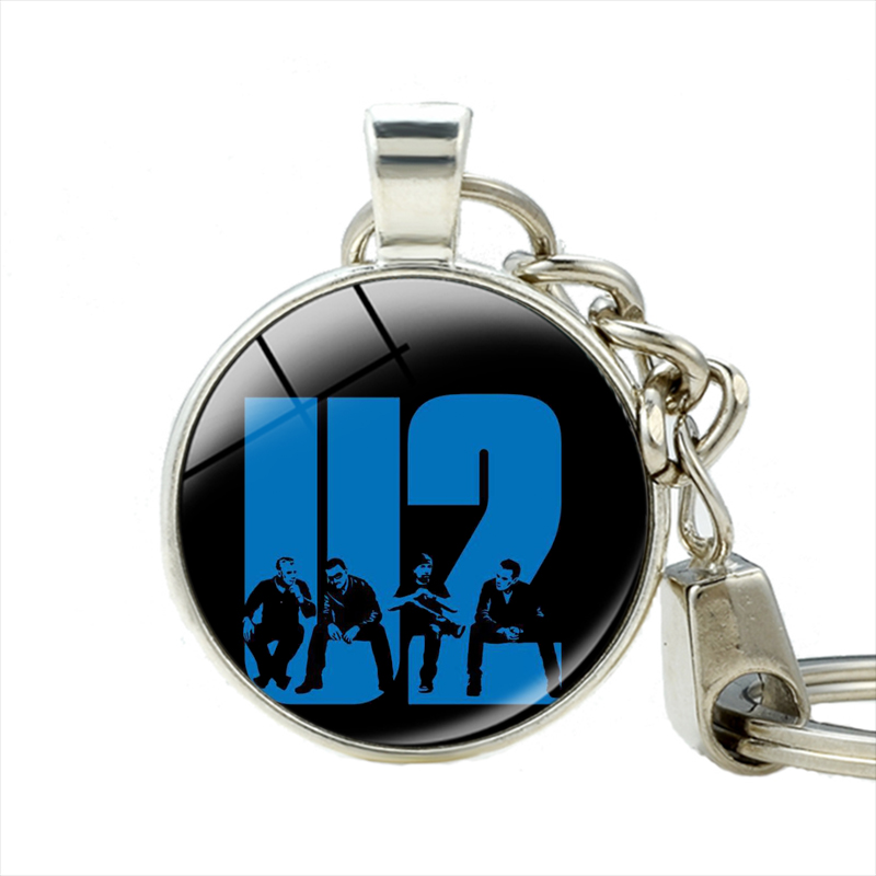 Berlin Alternative Pop Rock Band U2 Bono Adam Clayton Larry David Keychain Groupe De Rock U2 Porte-clés Fabriqués À La Main Bijoux