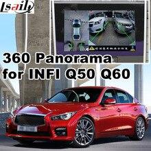 360 panorama & rear view interface para Infiniti Q50 Q60 etc reprodução de vídeo de tela LVDS de entrada de sinal RGB elenco