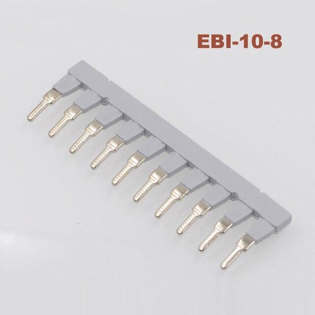Connecteur enfichable latéral à Rail Din UK6N URTK/S bande de connexion de court-circuit central, bornier, pièces uk EBI10-8