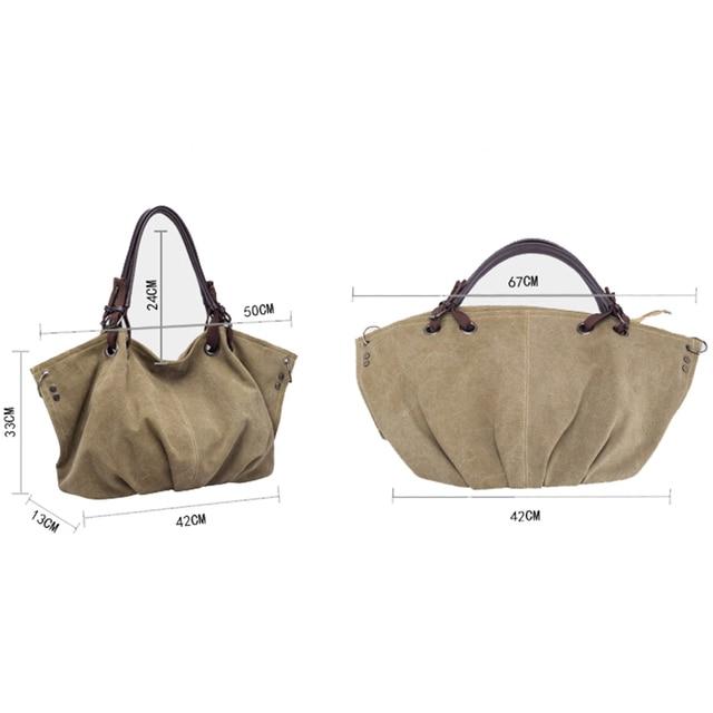 Women Fashion Canvas Handbags Retro Large Capacity Female Shoulder Bags Stylish Casual Crossbody Bags Classic Solid Totes TTOU 1