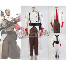 Cosplaydiy Custom Made Team Fortress 2 Medic Cosplay Suit Uniform Costume For Audlt Men Halloween Game Cosplay Costume