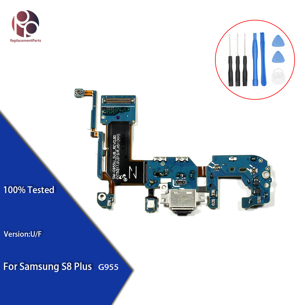 Tested Replacement For Samsung S8 G950F  G950U S8 plus G955F  G955U Charger Charging Connector USB Dock Port Flex Cable Ribbon