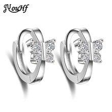 JYouHF High Quality 925 Sterling Silver Crystal Earrings Women Jewelry Hot Sale Butterfly Stud Earrings Female Bijoux Aretes