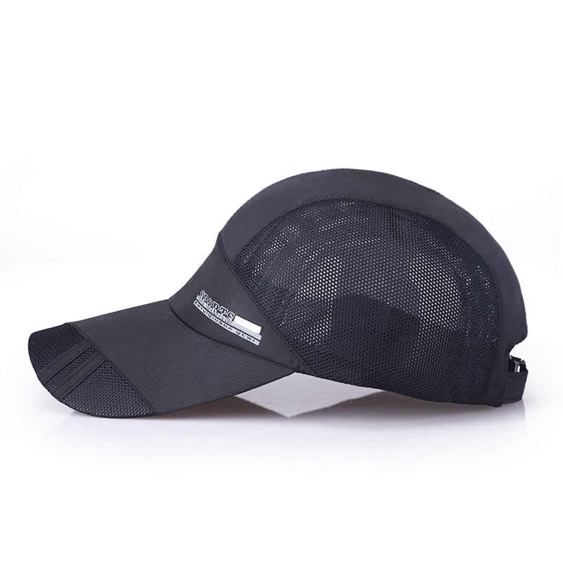 b6bbd6a3 ... Outdoor Running Caps Mesh Breathable Men Baseball Golf Cap Summer  Adjustable Travel Sun Hat Sports Caps ...