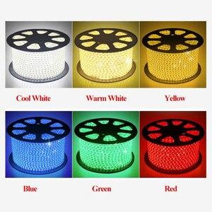 Tira de luz de led, 100 m/lote led 220-240v smd2835 120led/m iluminação de fadas flexível à prova d' água decoração externa luzes neon com iluminação