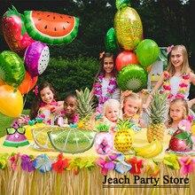 dragon fruit decoration supplies peach kiwi berry lemon orange strawberry pineapple watermelon kids party foil birthday balloons