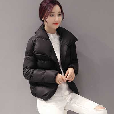 ФОТО Women Coat Winter White Duck Jacket Women Parkas Turn-down Collar Thick Warm Short Coat Large Size XXL A3936