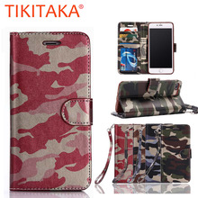 For Samsung Galaxy S6 S7 edge Luxury Fashion Army Camo Camouflage Leather Flip Case For Apple iphone 7 6 6s Plus 5 5s Back Cover