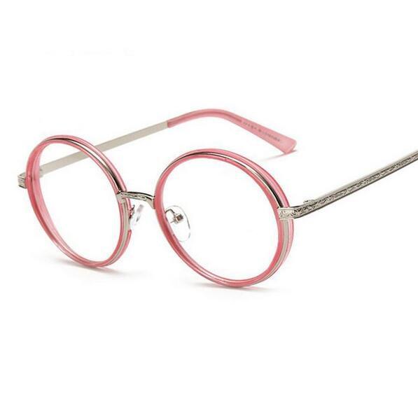 Marca de moda las mujeres del diseño óptico Gafas Marcos ojo lujo Gafas  vintage ronda ordenador Gafas gafas oculos de Grau 0541279a45
