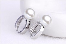 Sterling Silver Ladies Pearl Studded Earring Jewelry for Women