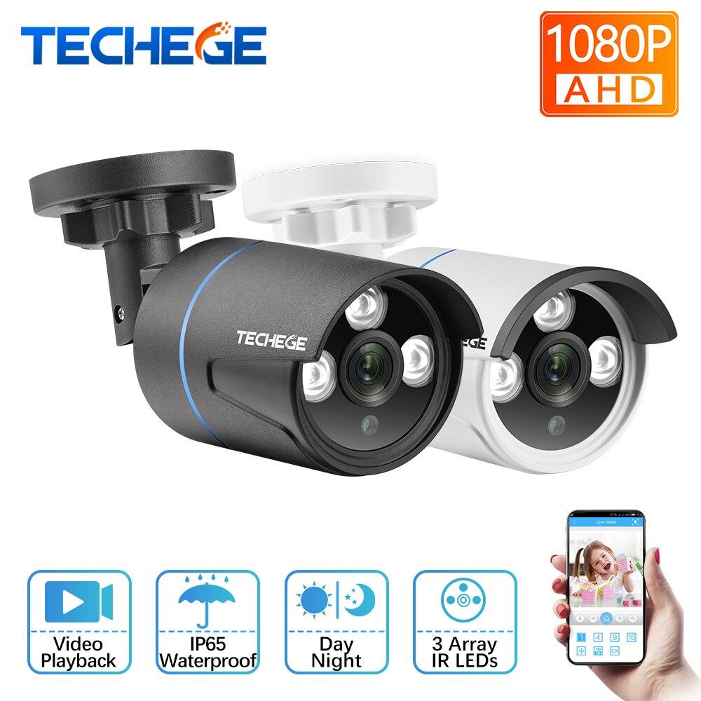 Techege HD 1080 P AHD Câmera de CCTV Bala Câmera À Prova D' Água Câmera de Segurança IR Night vision 2400TVL para sistema de Câmera AHD
