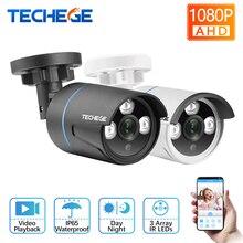 Techege HD 1080 P AHD камера цилиндрическая камера видеонаблюдения водостойкая ИК ночного видения 2400TVL камера безопасности для AHD камеры системы