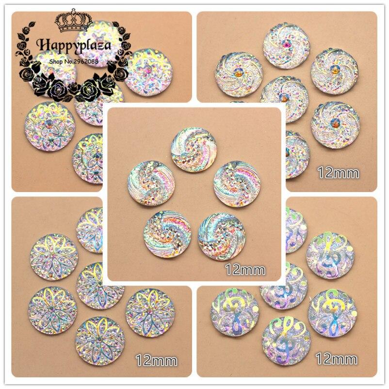 Mignon Brillant Paillettes rondes Fleur 15 mm Boutons Craft Nouveauté Bébé