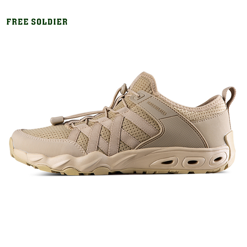 FREE SOLDIER Tactical Hiking Upstream Shoes Breathable and Quick drying Fishing Summer Men s Non Slip