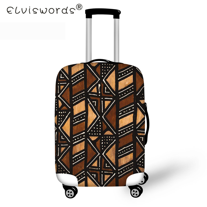 ELVISWORDS African Travel Thicken Elastic Luggage Suitcase Protective Cover, Apply To 18-30 Inch Cases, Travel Accessories Retro
