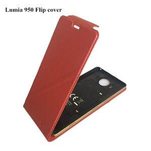 Image 1 - Chính hãng Mozo lumia 950 Lật Bò Da Trường Hợp đối với Microsoft lumia 950 Máy Tính Xách Tay Trường Hợp đối với Nokia lumia 950 Cover Quay Lại NFC + QI
