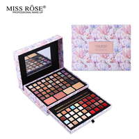 Professional Flower Makeup Cosmetic Set Gift For Women Eyeshadow Lipstick Concealer Blush Mirror Kits Make Up