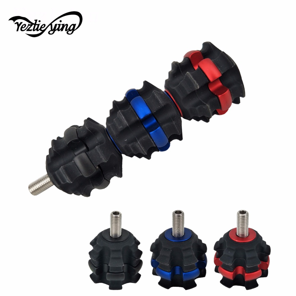 Free Shipping, 1 Pcs New Archery Stabilizer Ball Bow Riser Damper Stabilizer Shock Absorber Vibration for Recurve Compound Bow fid closed damping ball group rod shock absorber cap for lt 5t 1 set