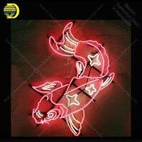 Неоновая вывеска Карп Рыба неоновая лампа знак ручной работы Letrero пивной бар ресторан стены неоновая реклама Винтаж неоновый свет anuncio luminos