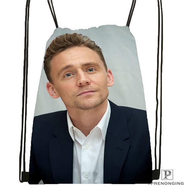 Custom Tom_Hiddleston_Cannes @02-Drawstring Backpack Bag Cute Daypack Kids Satchel (Black Back) 31x40cm#180611-01-36