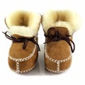 New Winter Baby Shoes Boots Infants Warm Shoes Fur Wool Girls Baby Booties Sheepskin Genuine Leather Boy Baby Boots Fur Newborns