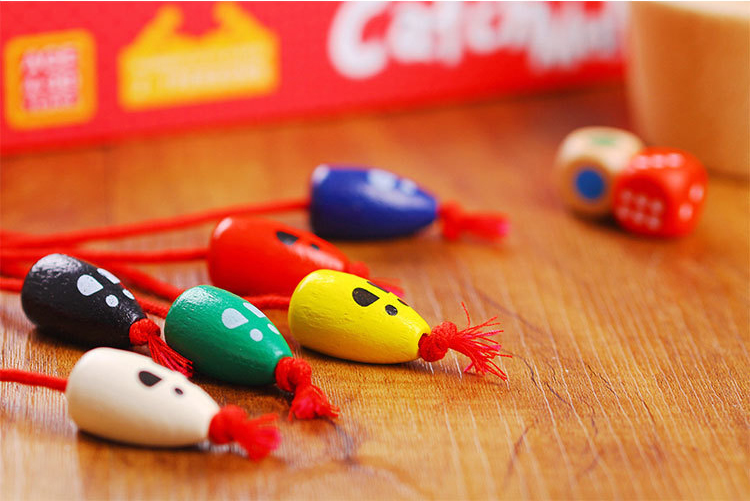 Wooden learning education toys table game children catch me mouse role play Family Game Essentials Kids Birthday Christmas Gifts