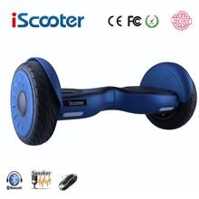 IScooter hoverboard 10 дюймов bluetooth два колеса умный балансируя электрический скутер скейтборд со спикером giroskuter UL2722