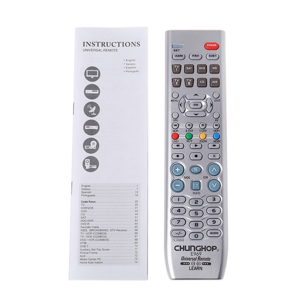 8in1 Intelligent Universal Controller Télécommande Pour TV VDO DVD CD SAT AUD
