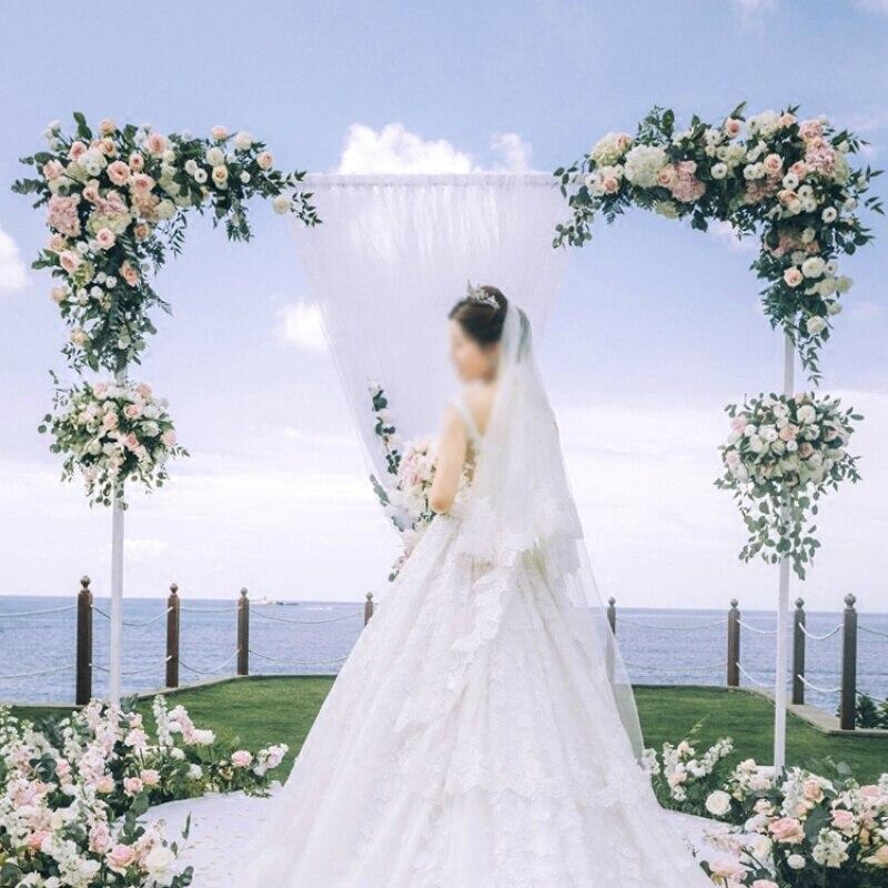 Flone personnaliser fleur artificielle rangée guirlande décor maison rideau mariage route plomb coin fleur mur soie fleur centres de table