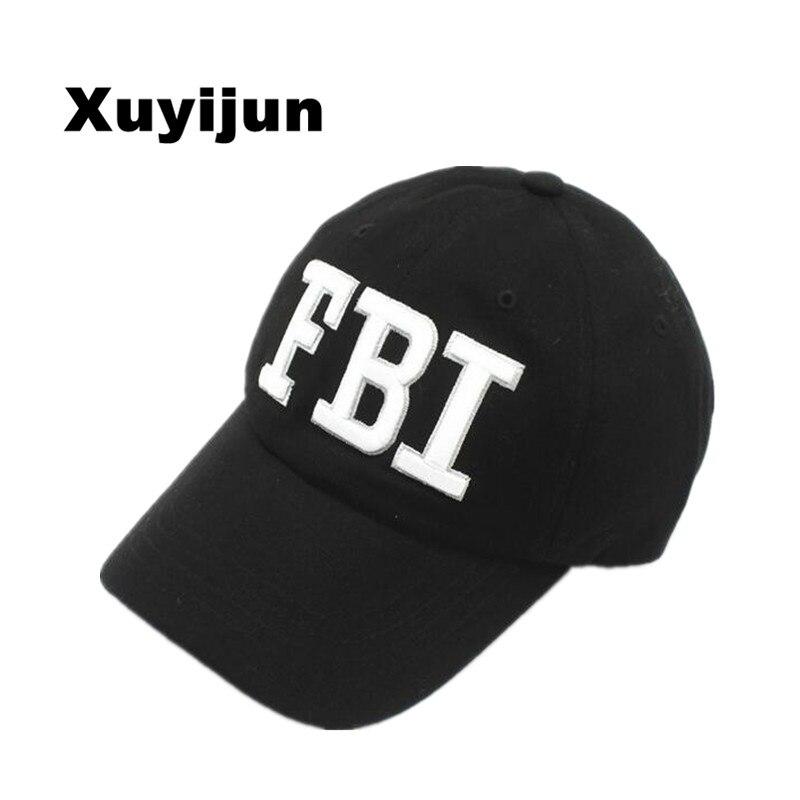 Xuyijun High quality Wholesale Retail Snapback Hat & Cap FBI Fashion Leisure embroidery CAPS Unisex Baseball Cap dad cap bones hot winter beanie knit crochet ski hat plicate baggy oversized slouch unisex cap