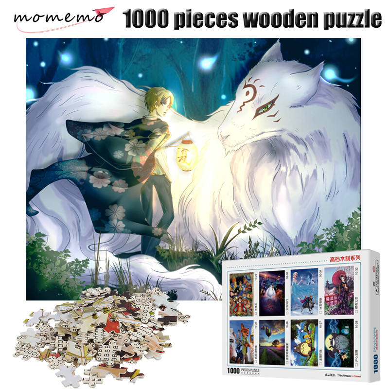 MOMEMO Anime Figure 1000 Pieces Wooden Puzzles Adults Decompression Toys Landscape Jigsaw Puzzle Children DIY Assembling Toys