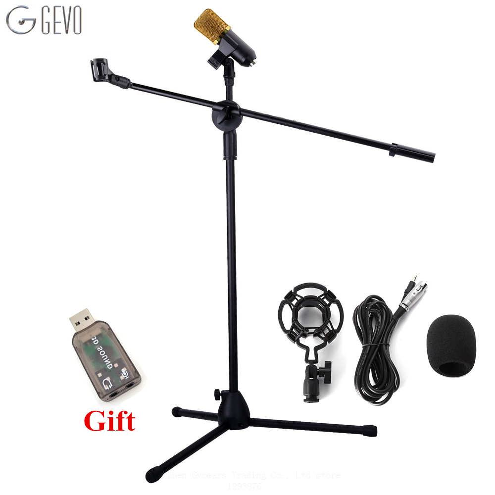 BM-700 Condenser Microphone With NB-107 Microphone Stand professional Computer Microphone BM 700 For KTV Studio Audio Recording heat live broadcast sound card professional bm 700 condenser mic with webcam package karaoke microphone