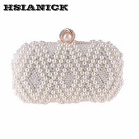 Lady New Europe And United States High Grade Women Pearl Evening Bag Handbag Lady Dress Clutch
