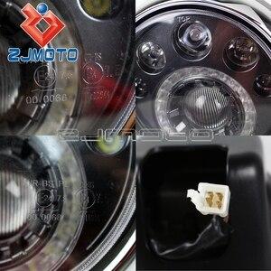 Image 5 - Phare de course personnalisé E Mark E4 E24, phare de 7 pouces LED ST CAFE RACER, IronHorse Chopper, faisceau haut et bas 12V