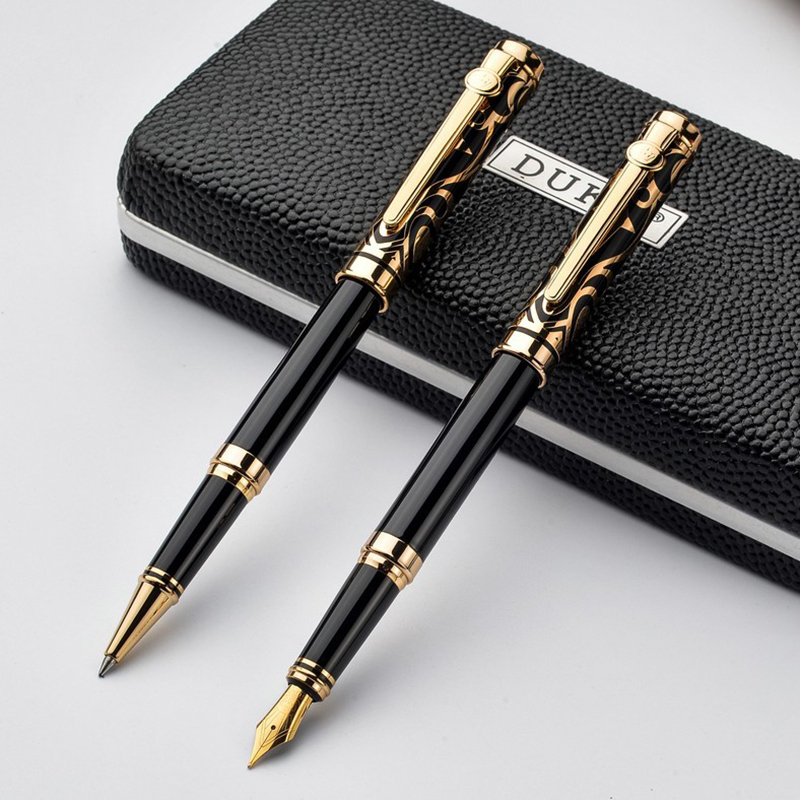 High Quality DUKE Iraurita Fountain pen set full metal with gem Caneta Stationery with Original Box
