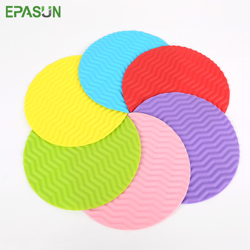 EPASUN Non-slip Drying Mat Silicone Table Mat Placemat Cup Coaster Cushion Heat Resistant Placement Pot Holder Kitchen Hot Pad