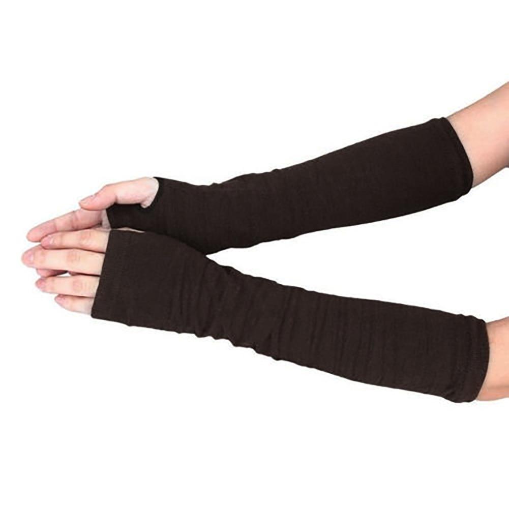 Damen-accessoires Bekleidung Zubehör Aktiv Dame Stretchy Striped Weiche Handgelenk Arm Warmer Lange Hülse Halb-finger Handschuhe Neue Mit Einem LangjäHrigen Ruf