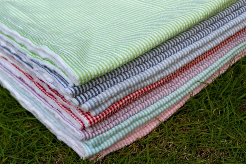 Double Extra Soft Minky Dot Fabric Seersucker Newborn Blanket Super Soft Bedding Baby Blanket Baby Product Factory Sales